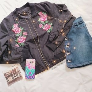 ⚘⚘Rose Bomber Jacket